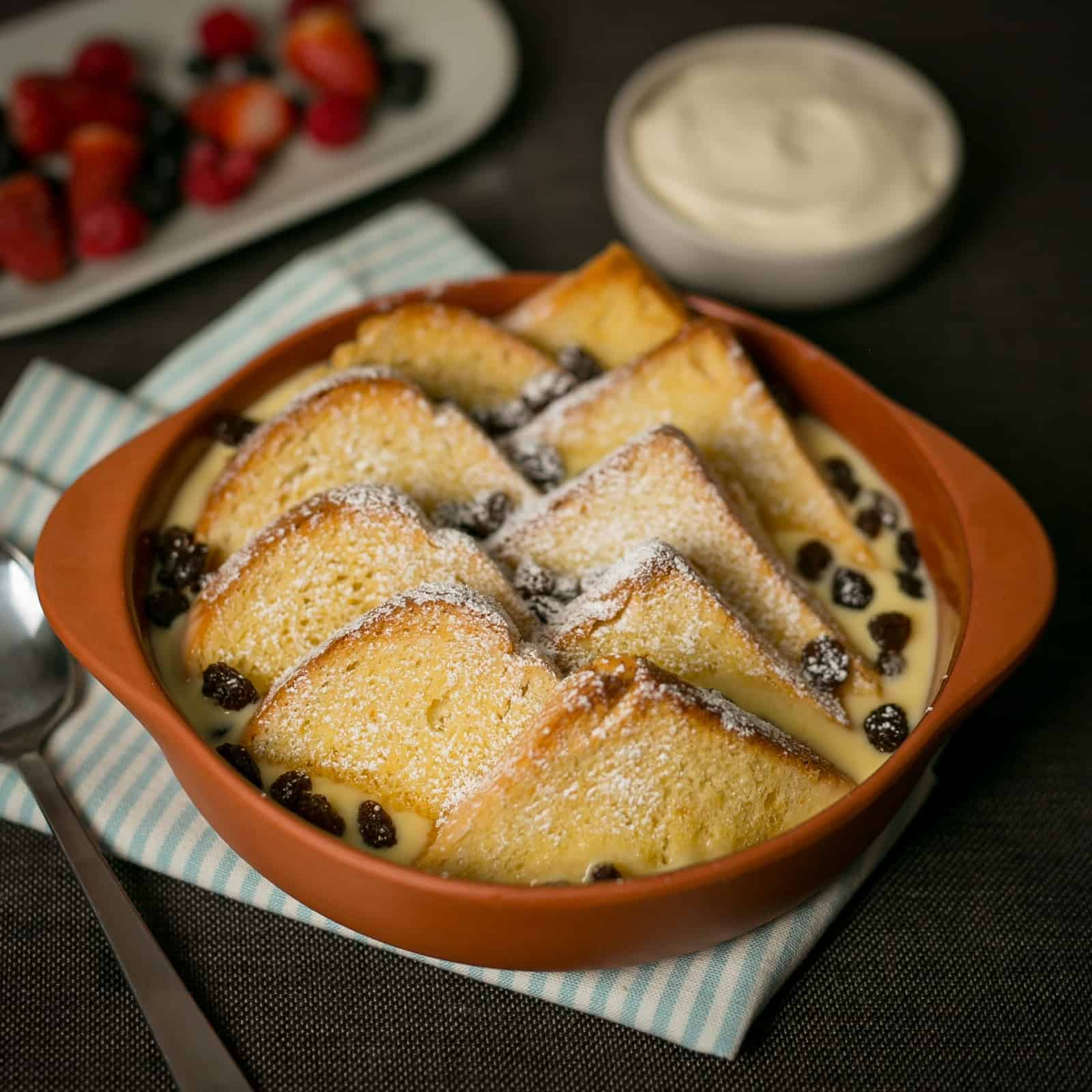 Brioche Loaf Bread and Butter Pudding